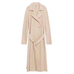 Zara Blush Pink Flowy Longline Trench/Duster Coat